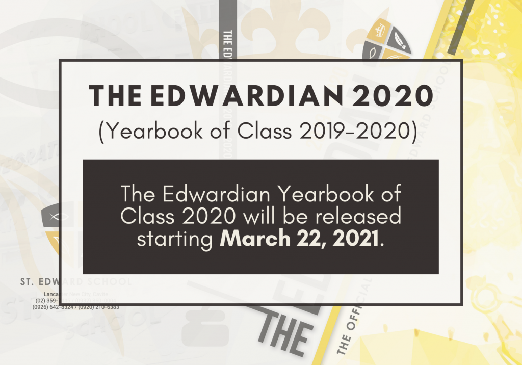 The Edwardian 2020 Yearbook to be released on March 22, 2021