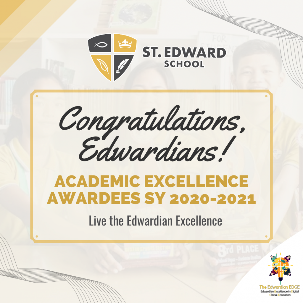 Congratulations to the following Overall Academic Excellence Awardees SY 2020-2021